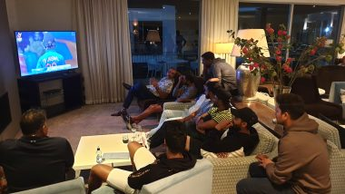Senior Indian Cricket Team Enjoys IND vs BAN ICC U19 CWC 2020 Final Match, View Photo