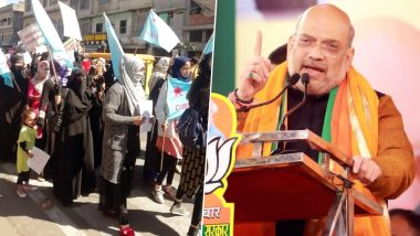 Shaheen Bagh Protesters Begin March to Meet Amit Shah Over CAA-NRC, Heavy Security Outside Home Minister's Residence