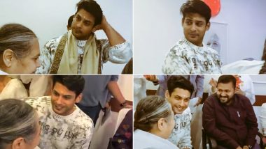 Bigg Boss 13 Winner Sidharth Shukla Inaugurates a Hospital Ward With Mom, Receives Love From His Elderly Fan (Watch Videos)