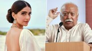 Sonam Kapoor Slams RSS Chief Mohan Bhagwat for His Statement on Divorce, Calls It 'Regressive and Foolish'