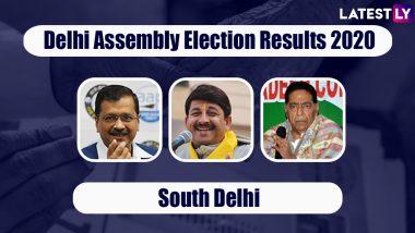 Delhi Assembly Elections 2020 Results From South Delhi Live News Updates: AAP Wins Six Assembly Constituencies - Chhatarpur, Deoli, Ambedkar Nagar, Kalkaji, Tughlakabad & Sangam Vihar, BJP Likely to Bag Badarpur