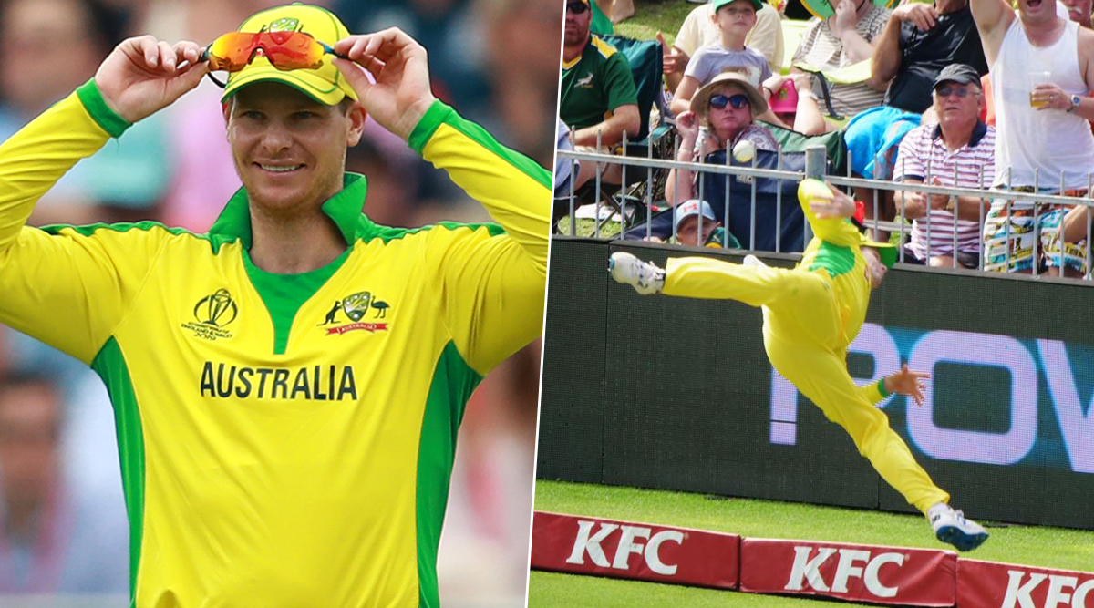 Steve Smith Shows Incredible Fielding Skill, Saves a Six During South Africa vs Australia 2nd T20I 2020; Twitterati Heap Praises