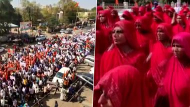 Swami Krushnaswarup Dasji Followers Take Out Rally in Support of Spiritual Leader in Kutch After His Remark on Menstruating Women Receives Flak