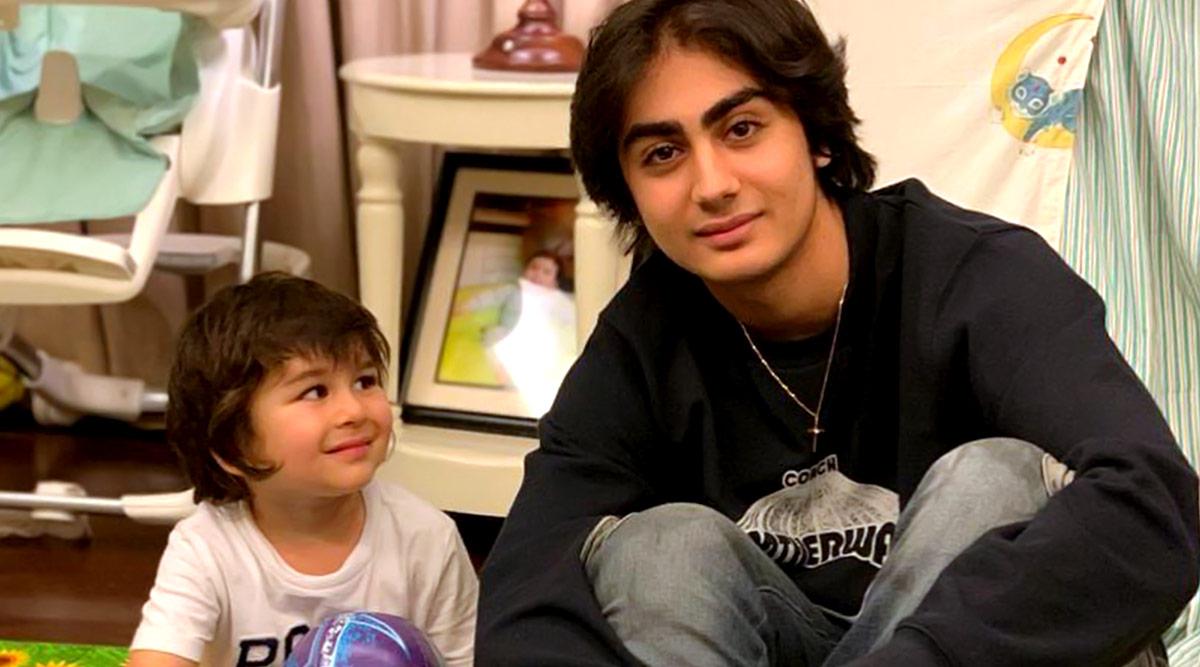 Kareena Kapoor Khan's Son Taimur Looking Admiringly At Malaika Arora's Boy Arhaan Khan Is Aww-dorable