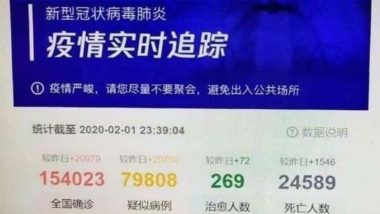 Fact Check: Over 24,000 Deaths in China Due to Coronavirus? Doctored Screenshot Claims Under-Reporting of Fatalities, Know Truth Behind Viral Post