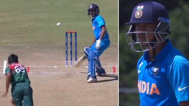 Bangladesh Pacer Sakib Almost Hits India's Divyansh Saxena on His Head During IND vs BAN ICC U19 World Cup Final, Fans Lambast Bowler for Overtly Aggressiveness
