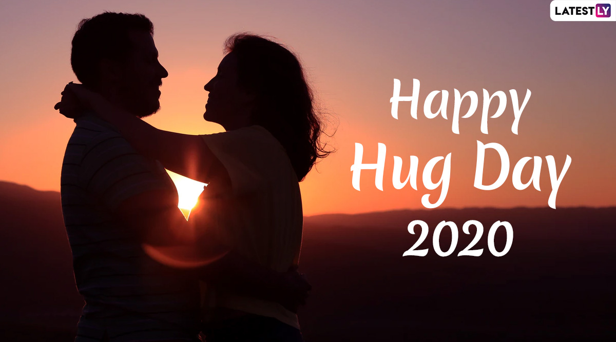 Hug Day 2020 Images With Romantic Wishes: WhatsApp Stickers, Hug Day Quotes, SMS, GIF Messages and Greetings to Send to Your Valentine