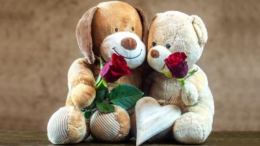 Teddy Day Images & HD Wallpaper For Free Download Online: WhatsApp Stickers, GIF Greetings, Hike Messages and SMS to Wish Happy Teddy Day 2020 in Valentine Week
