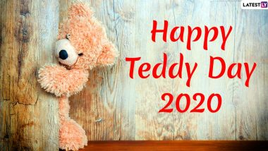 Teddy Day 2020 Wishes and Messages: WhatsApp Stickers, GIF Images, Teddy Bear Photos With Quotes, SMS and Greetings to Send During Valentine Week