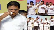 Coronavirus Scare in India: Telangana Ministers Eat Chicken on Stage to Dispel COVID-19 Fears