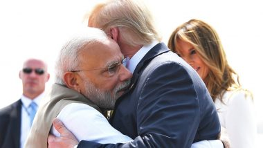Donald Trump India Visit Live News Updates: US President, Melania Trump and PM Modi Arrive at Motera Cricket Stadium in Ahmedabad For 'Namaste Trump' Event