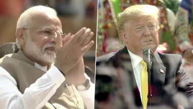 Namaste Trump: Donald Trump Heaps Praises on PM Narendra Modi at Motera Stadium Event, Says 'He Worked as a Tea Seller, Now He's a Champion of India'