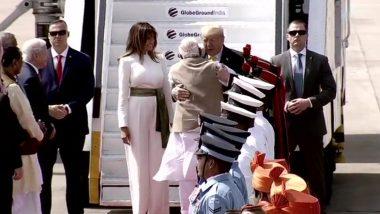 Donald Trump India Visit Day 1: See Pictures of US President, First Lady Melania, Daughter Ivanka And Son-In-Law Jared Kushner Visiting Motera Stadium, Sabarmati Ashram And Taj Mahal
