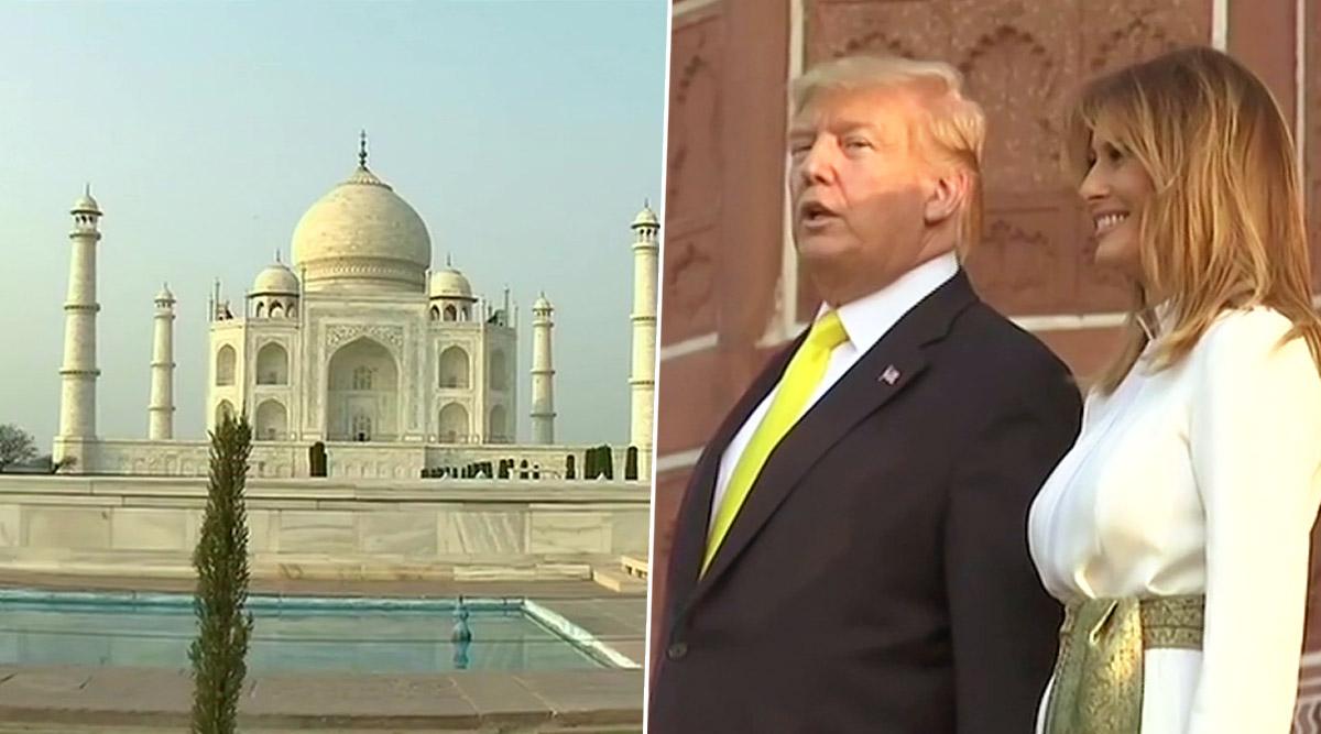Donald Trump, US First Lady Melania Trump Visit Taj Mahal in Agra; See Pics and Video