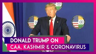 US President Donald Trump On CAA Violence, Kashmir Issue And Coronavirus