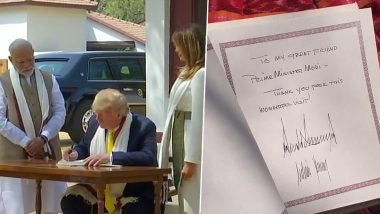 What Donald Trump Wrote in The Visitor's Book at Sabarmati Ashram in Ahmedabad; See Pic
