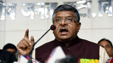 Law Minister Ravi Shankar Prasad Says 'Liberal Leftists Should Not Teach Secularism, Human Rights to BJP'