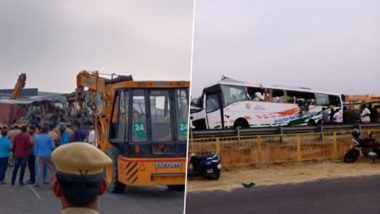 Tamil Nadu Accident: 20 Dead, Several Injured After KSRTC Bus Collides With Truck Near Avinashi Town of Tirupur District