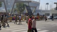 Donald Trump India Visit: Security Tightened Outside Motera Stadium in Ahmedabad, View Pics