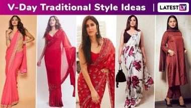Valentine's Day 2020 Traditional Outfit Ideas: Priyanka Chopra, Vidya Balan, Katrina Kaif, Janhvi Kapoor, Karisma Kapoor Stun!