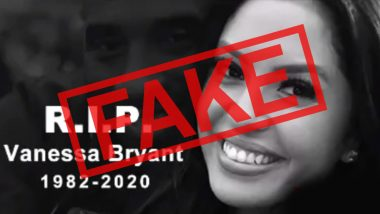 Fact Check: Vanessa Bryant, Kobe Bryant's Wife Did NOT Commit Suicide After His Death, Know Truth Behind The Fake News