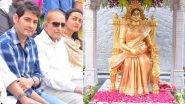 Vijaya Nirmala's Statue Unveiled on Her Birth Anniversary; Mahesh Babu with Father Krishna and Wife Namrata Shirodkar Attend the Inaugural Ceremony (View Pics)
