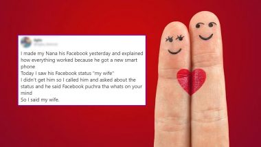 Guy's Tweet About His Grandpa's Facebook Status For His Wife Will Restore Your Faith in Love This Valentine Week
