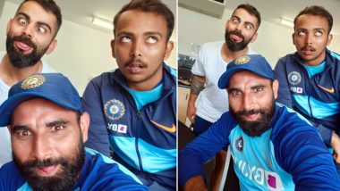 Virat Kohli, Mohammed Shami and Prithvi Shaw Replicate Crazy Face Emoji Ahead of IND vs NZ Test Series 2020, See Hilarious Pic