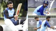 Virat Kohli and Co Seen Training Hard at Net Session Ahead of India vs New Zealand 2nd Test 2020 (View Pics)