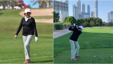 Yesteryear Bollywood Actress Vyjayanthimala Shocks Netizens With Her Fitness as the 83-Year-Old Gets Clicked Playing Golf (See Pics)