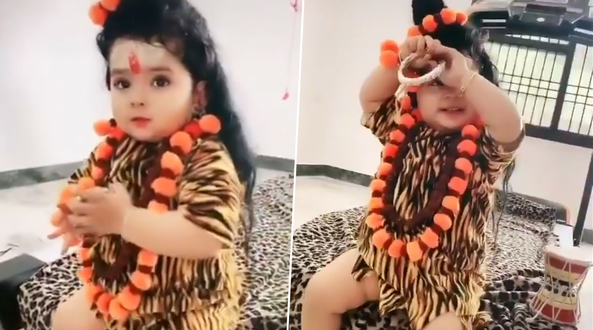 TikTok Video of Toddler Dressed As Bholenath Will Lift Up Your Spirits This Mahashivratri