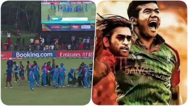 From Ugly Fight During U19 CWC Final 2020 to a Poster With MS Dhoni's Decapitated Head, 5 Times When Bangladesh Cricket Team Lacked Sportsmen Spirit (Watch Video)