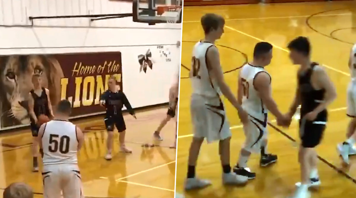 Basketball Player Gives Second Chance to Opposite Team Member With Down Syndrome for Final Shot, Viral Video Shows True Sportsman Spirit