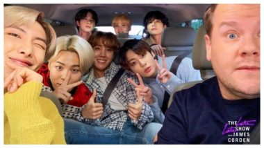 BTS Appear on Carpool Karaoke, Sing Finesse, Clap to Friends Theme, Pretend to Understand English and Ooze Awesomeness (Watch Videos)