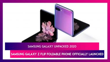 Samsung Galaxy Unpacked 2020: Samsung Galaxy Z Flip Foldable Smartphone Officially Revealed; Price, Features, Variants & Specifications
