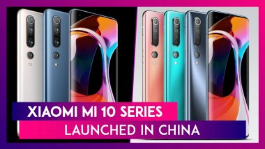 Xiaomi Mi 10 Series Officially Revealed in China At Starting Price of CNY 3,999; Prices, Variants Features & Specifications