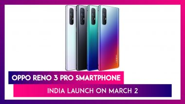 Oppo Reno 3 Pro Coming To India on March 2; Expected Prices, Features, Variants & Specifications
