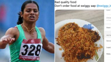 Dutee Chand Orders Biryani on Swiggy Food Delivery App. Sprinter Disappointed by Its Quality Takes to Twitter, See Post