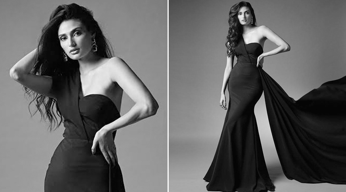 Athiya Shetty Stuns in a Rutu Neeva Strapless Gown, Her B&W Pictures Are an Absolute Wow!