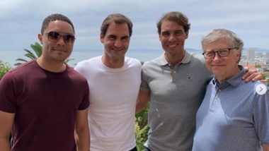 Roger Federer, Rafael Nadal Pose For Selfie With Bill Gates And Trevor Noah Ahead of South Africa Exhibition Tour (See Pics)