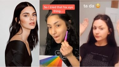 TikTok Teens Are Shaving Off Their Eyebrows for 'Fox Eye Challenge' to Look Like Kendall Jenner (Watch Viral Videos)