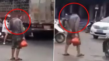 Headless Man Walking on a Busy Street Will Creep You Out, Watch Viral Video