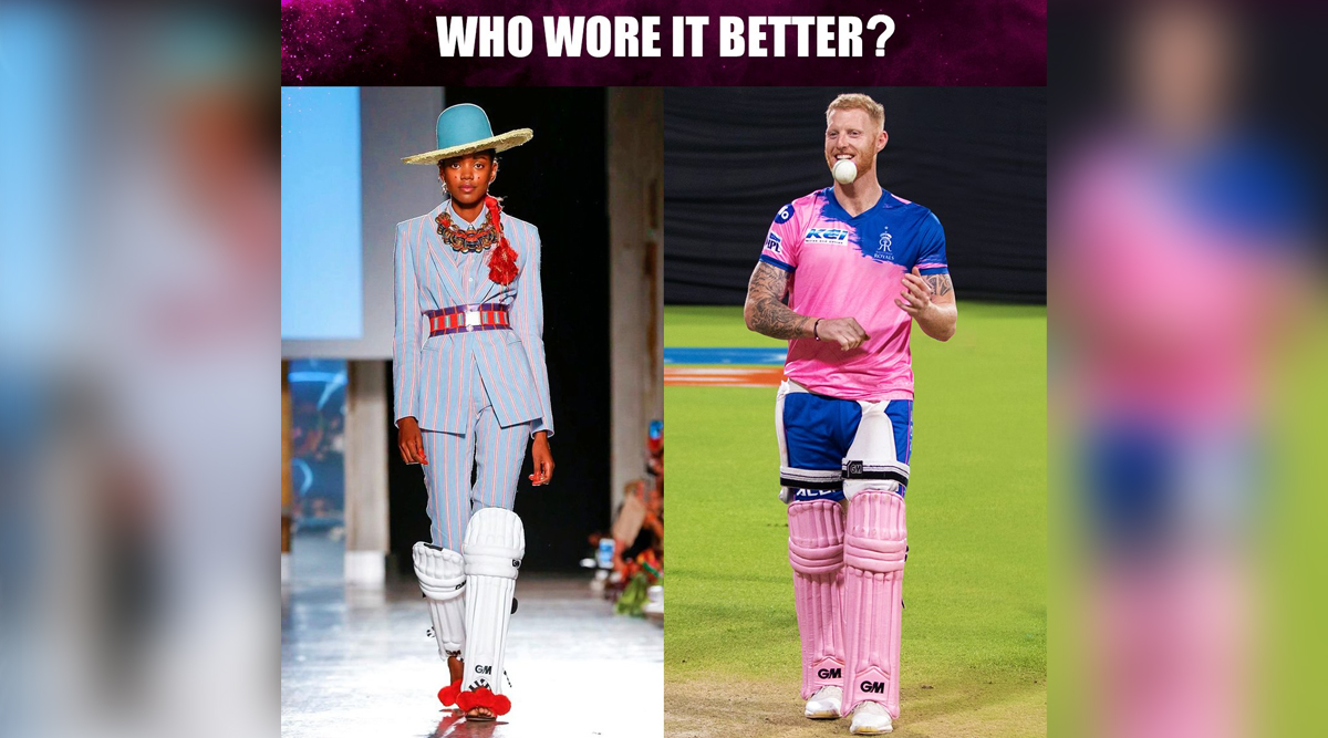 Ben Stokes or Designer Stella Jean's Gunn & Moore Pads Wearing Model? Rajasthan Royals' Who Wore it Better Tweet Draws Funny Reactions