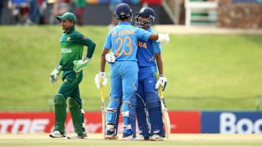 India Beat Pakistan to Qualify for Final of ICC U19 CWC 2020; Yashasvi Jaiswal, Divyansh Saxena Shine in 10-Wicket Victory in Semis
