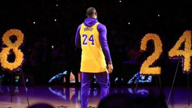 LeBron James Gives Heartfelt Tribute to Kobe Bryant in LA Lakers' Pre-Game Ceremony, Watch Video of his Moving Speech