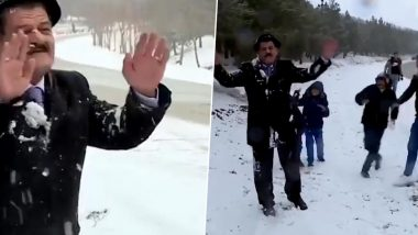 TV Weatherman Becomes Victim to Snowball Attack While Reporting Live in Iraq (Watch Video)