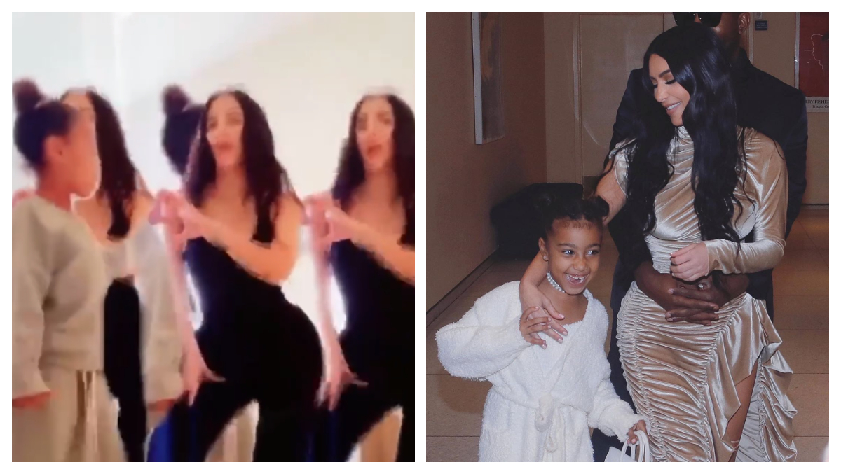 Kim Kardashian Keeps Her Word, Posts TikTok Video with Daughter North West From The Secret Account
