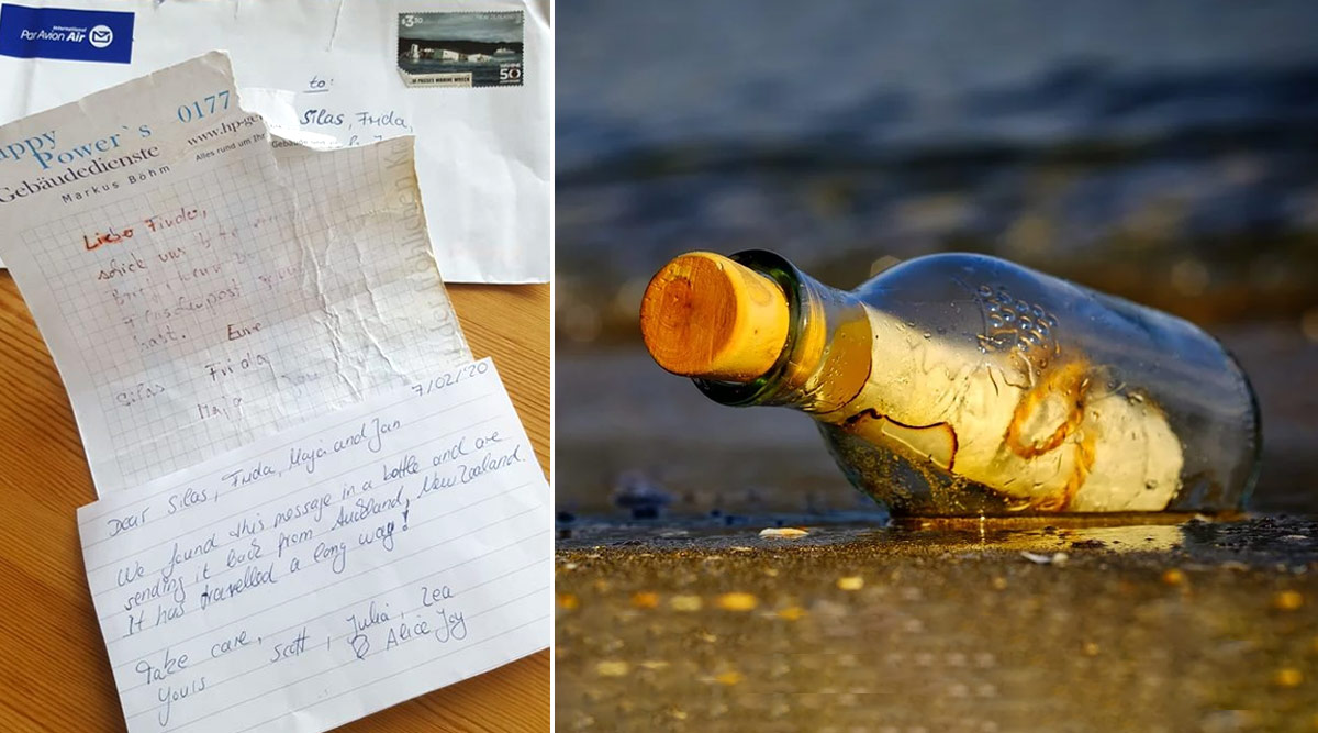Message in a Bottle Sent 7 Years Ago in Germany Floats Back to Owner With Response From New Zealand