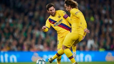 Antoine Griezmann and Lionel Messi Pair up to Net the First Goal For Barcelona Against Getafe (Watch Video)