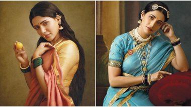 Samantha Akkineni, Shruti Haasan Feature on a Special Edition Calendar Themed on Raja Ravi Varma's Paintings, and They Look Breathtakingly Royal (View Pics)